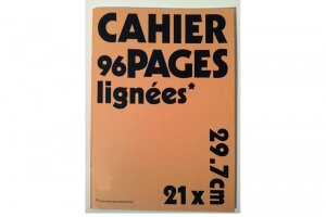 Cahier A4 ligné - lot 4 cahiers