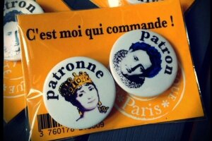 Mini badges patron patronne