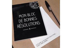 Bloc bonnes résolutions