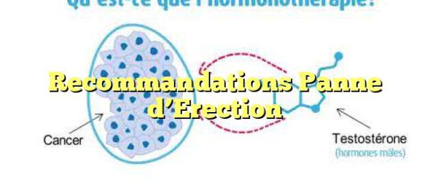 Recommandations Panne d'Erection